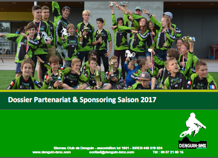 couverture dossier sponsoring saison 2017 denguin bmx