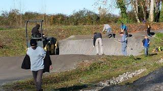 Travaux piste de BMX de Denguin dimanche 27 novembre 2016
