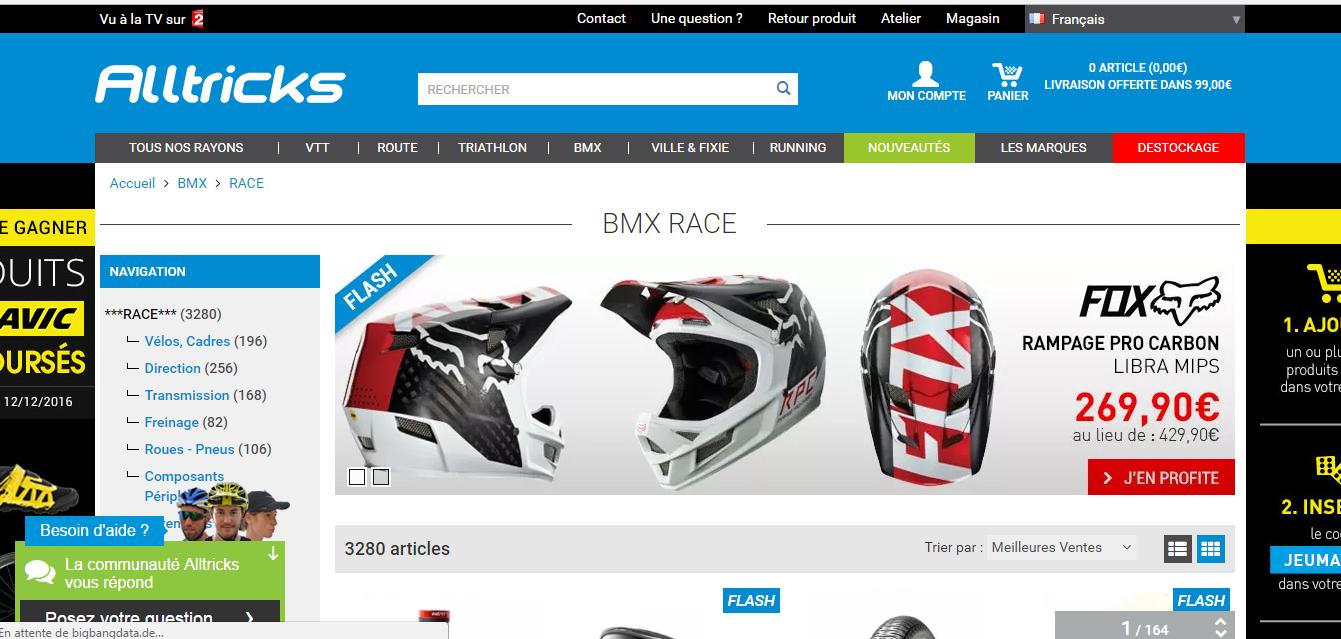 Denguin BMX homepage alltricks