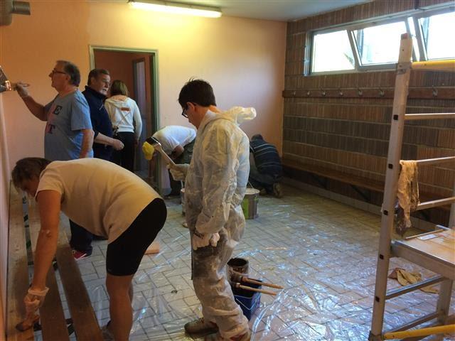22 avril 2017 denguin bmx participation aux travaux bénévolat vestiaires salle omnisport